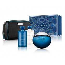 BVLGARI AQVA ATLANTIQUE EDT 100 ML + A/SHAVE 75 ML + GEL 75 ML + NECESER SET