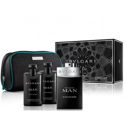 BVLGARI MAN IN BLACK COLOGNE EDC 100 ML + A/S 75 ML + GEL 75 ML + NECESER SET