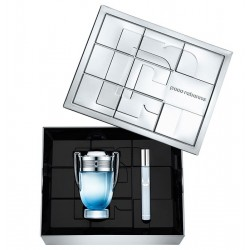 comprar perfumes online PACO RABANNE INVICTUS AQUA EDT 100 ML + EDT 10 ML SET REGALO mujer