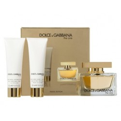 comprar perfume DOLCE & GABBANA THE ONE EDP 75 ML + B/L 50 ML + S/G 50 ML SET REGALO danaperfumerias.com
