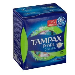 TAMPAX COMPAK PEARL TAMPON SUPER 18 UNIDADES