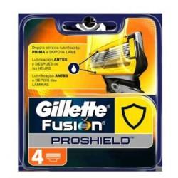 GILLETTE FUSION PROSHIELD RECAMBIOS 4 UNIDADES
