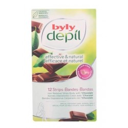 BYLY BANDAS DEPILATORIAS CORPORALES CON CHOCOLATE 12 UNIDADES danaperfumerias.com/es/