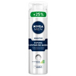 NIVEA MEN ESPUMA AFEITAR SENSITIVE 200ML danaperfumerias.com/es/