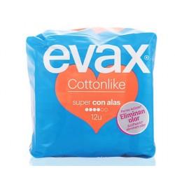 EVAX COTTONLIKE COMPRESAS CON ALAS SUPER 12 UNIDADES danaperfumerias.com/es/