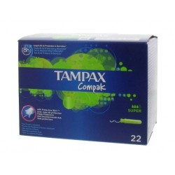 TAMPAX COMPAK TAMPONES SUPER 22 UNIDADES