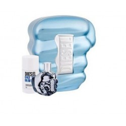 DIESEL ONLY THE BRAVE EDT 75 ML VP. + DEO 75 ML  SET REGALO