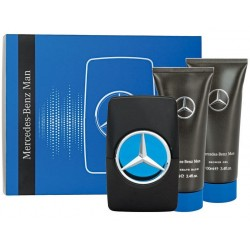 MERCEDES BENZ MAN EDT 100ML + GEL BAÑO 100ML + AFTER SHAVE 100ML SET REGALO