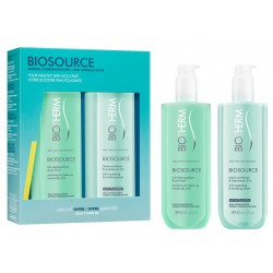 BIOTHERM BIOSOURCE SET LECHE DESMAQUILLANTE 400 ML+LOCION TONIFICANTE 400 ML danaperfumerias.com/es/