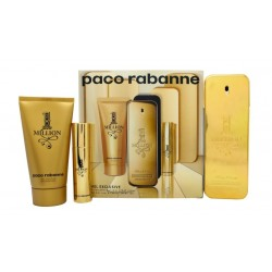 PACO RABANNE 1 MILLION EDT 100 ML + EDT 10 ML + S/GEL 75ML SET REGALO