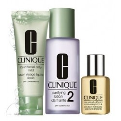CLINIQUE 3 STEP SKIN CARE SYSTEM TYPE 2 TRAVEL EXCLUSIVE