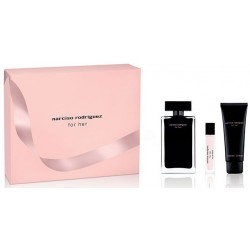 NARCISO RODRIGUEZ FOR HER EDT 100ML + BODY LOTION 75ML + EDT 10ML SET REGALO