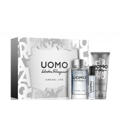 SALVATORE FERRAGAMO UOMO CASUAL LIFE EDT 100ML + 2 PIEZAS SET REGALO