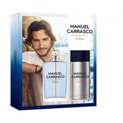 MANUEL CARRASCO EDT LIBRE 100ML VAPO DESODORANTE 150ML SET REGALO