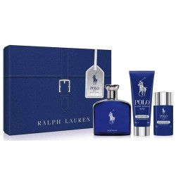 RALPH LAUREN POLO BLUE EDP 125 ML + EDP 20 ML + DEO STICK SET REGALO