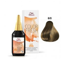WELLA PROFESSIONAL COLOR FRESH COLORACION SEMIPERMANENTE 6/0 RUBIO OSCURO 75ML