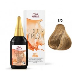 WELLA PROFESSIONAL COLOR FRESH COLORACION SEMIPERMANENTE 8/0 RUBIO CLARO 75ML