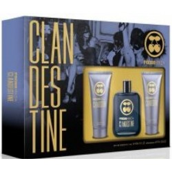 PACHA MEN CLANDESTINE EDT 100 ML VAPORIZADOR + GEL 75 ML + AFTER SHAVE 75 ML SET REGALO