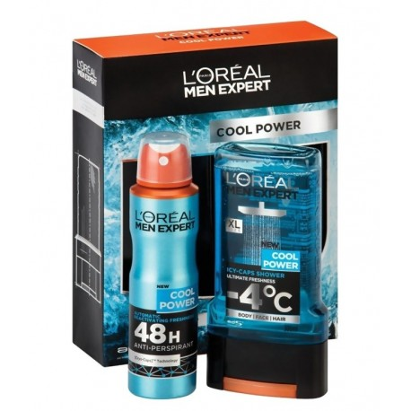 L'OREAL MEN EXPERT COOL POWER DESODORANTE 150ML + GEL 300ML danaperfumerias.com/es/