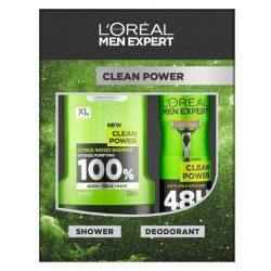 L'OREAL MEN EXPERT CLEAN POWER DESODORANTE 150ML + GEL 300ML danaperfumerias.com/es/