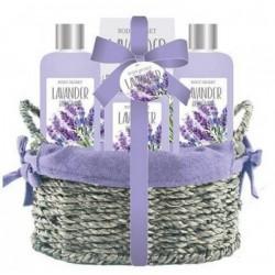 BECASAN NATURE CESTA MIMBRE LAVANDA 4 PIEZAS SET REGALO danaperfumerias.com/es/