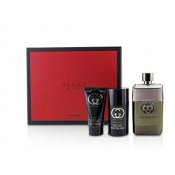 GUCCI GUILTY POUR HOMME EDT 90 ML + DESODORANTE 75ML + AFTER SHAVE 50ML SET REGALO