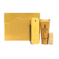 PACO RABANNE 1 MILLION EDT 100 ML + S/G 100 ML + MINI 5 ML TRAVEL SET REGALO