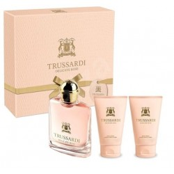 TRUSSARDI DELICATE ROSE EDT 30 ML + BODY LOTION 2X30ML SET REGALO
