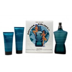JEAN PAUL GAULTIER JPG LE MALE EDT 125 ML + SG 75 ML + AS 50 ML TRAVEL AIRLINES SET