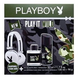 PLAYBOY PLAY IT WILD MEN EDT 50 ML + DESODORANTE 150ML + AURICULARES SET REGALO