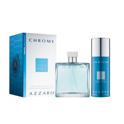 comprar perfumes online hombre AZZARO CHROME EDT 100 ML + DEO VAPO 150 ML TRAVEL SET