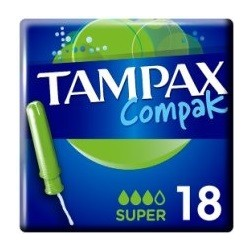 TAMPAX COMPAK TAMPONES SUPER 18 UNIDADES