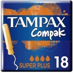 TAMPAX COMPAK TAMPONES SUPERPLUS 18 UNIDADES