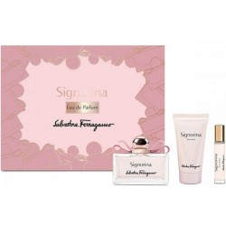 comprar perfumes online SALVATORE FERRAGAMO SIGNORINA EDP 100 ML + BODY LOTION 50ML + EDP 10ML SET REGALO mujer