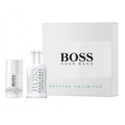 BOSS BOTTLED UNLIMITED EDT 100 ML VP. + DEO STICK 75 ML SET REGALO