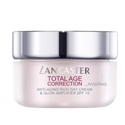 Comprar tratamientos online LANCASTER TOTAL AGE CORRECTION AMPLIFIED ANTI-AGING RICH DAY CREAM & GLOW 50 ML