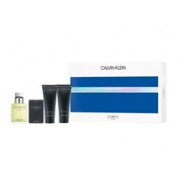 comprar perfume CK ETERNITY FOR MEN EDT 100 ML + EDT 20 ML + A/S BALM 100 ML + GEL 100 ML SET REGALO danaperfumerias.com