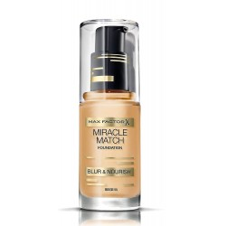 MAX FACTOR MIRACLE MATCH BLUR & NORISH BASE DE MAQUILLAJE 55 BEIGE 30 ML danaperfumerias.com