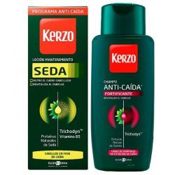 Comprar productos de hombre KERZO LOCION SEDA MANTENIMIENTO ANTICAIDA 150ML + CHAMPU ANTICAIDA FORTIFICANTE 250ML danaperfume...