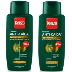 Comprar productos de hombre KERZO CHAMPÚ ANTI-CAÍDA NUTRITIVO 2X400ML danaperfumerias.com
