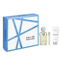 EAU DE ROCHAS EDT 100 ML + B/L 100 ML + MINI 20 ML SET REGALO