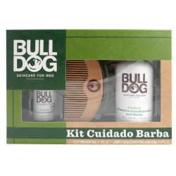 BULLDOG ORIGINAL CHAMPU 200Ml +ACEITE 30ML +PEINE SET CUIDADO BARBA