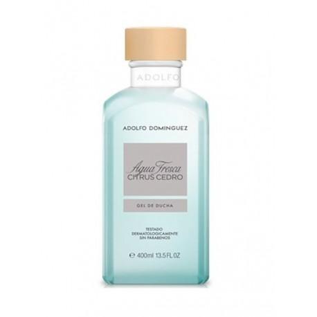comprar perfumes online hombre ADOLFO DOMINGUEZ AGUA FRESCA CITRUS CEDRO GEL 400 ML