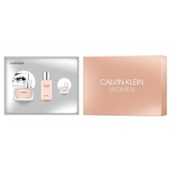 CALVIN KLEIN WOMEN EDP 50 ML + EDP 5 ML + B/LOC 100 ML SET REGALO