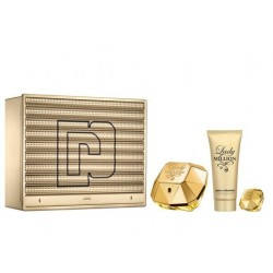 comprar perfumes online PACO RABANNE LADY MILLION EDP 80 ML + B/LOC 100 ML + MINI 5 ML SET REGALO mujer