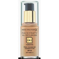 MAX FACTOR FACEFINITY ALL DAY FLAWLESS 3 IN 1 FOUNDATION 077 SOFT HONEY