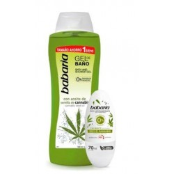 BABARIA GEL BAÑO CANNABIS 1000Ml + DESODORANTE ROLL-ON CANNABIS 70ML danaperfumerias.com/es/