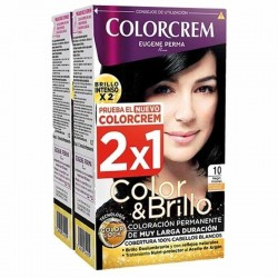 COLORCREM COLOR & BRILLO TINTE CAPILAR 10 NEGRO INTENSO x 2 UDS