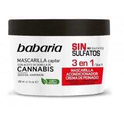 BABARIA MASCARILLA CAPILAR CANNABIS 3 EN 1 200 ML