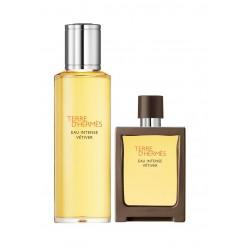 comprar perfumes online hombre HERMES TERRE D'HERMES EAU INTENSE VETIVER EDT 30 ML + RECARGA 125 ML SET REGALO